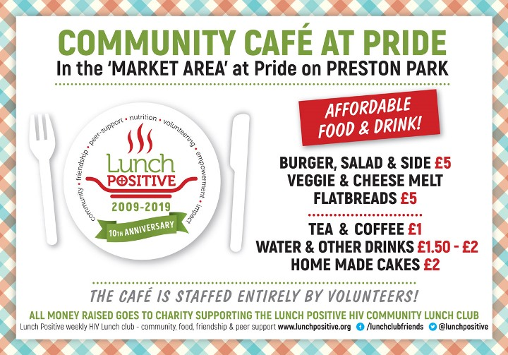 Lunch Positive Brighton Pride 2019 Community Cafe